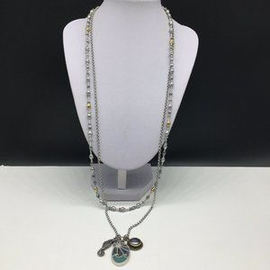 NEW Lucky Brand Seahorse Abalone Shell Necklace